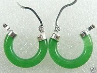 Beautiful green Jade Jewelry Earrings Fashion jewelry