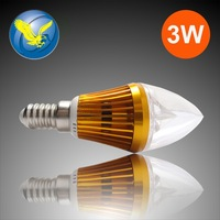 High Power 3w 10pcs/lot led bulb lamp e14 Base 85-265v CE RoHS 1Years Warranty