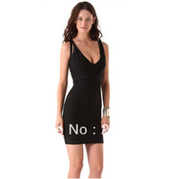 Europe and the United States H L Black Crisscross V-Neck Bandage Dress 2013 New Arrival Celebrity Sexy Dresses