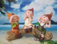 Free shipping 2013 hot sale Timber doll resin craft student gift child birthday gift