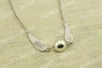 Free shipping 20pcs/lot The silver Snitch Necklace Harry Porter jewelry personality Girl Gift in silver