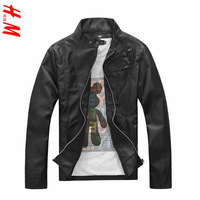 2014 hot sale men's clothing casual slim motorcycle leather clothing male leather jacket outerwear male free drop shipping