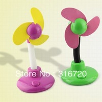 Brand New USB & Battery Double Way Mini Desk Fan 4Colors Free Shipping & Drop Shipping