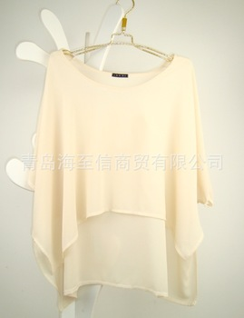 Free shipping 13 new2013 foreign trade of the original single single ingni brand new perspective loose bat sleeve outer blouse