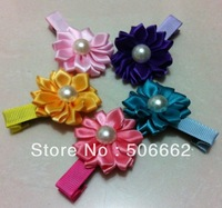 Free shipping DIY pearls center Girls hair clips baby hair pins Kids hair accessories Hairgrips