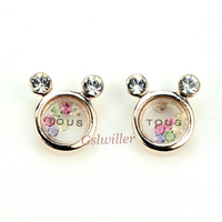 Free Shipping Italina Rigant 18K Rose Gold Plated Wholesale Austrian Crystal Earrings Fashion Novel Jewelry Gift