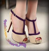 Vogue Sexy Women Shoes Stiletto Pumps Platform Peep Toe Buckle High Heels Sandal