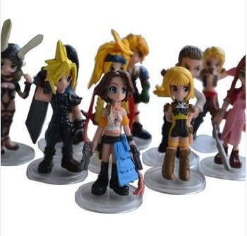 Final Fantasy Mini PVC Figure (10pcs /set) Pop Anime Figure Free Shipping