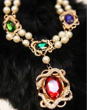 Flower rehinestone pearl necklace bridal jewelry rehinestone rhinestone wedding dress formal dress marriage accessories