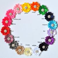 Embellishe Satin Flower Headbands Satin Flowers QueenBaby 240PCS Free Shipping