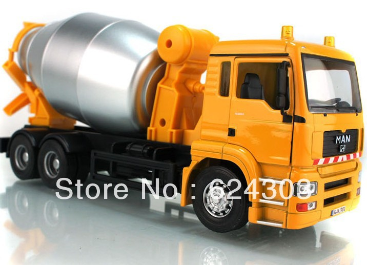 Free Shipping! 2013 newest ! 1:32 MAN Cement mixer truck alloy Diecast Model the best kids toys(China (Mainland))