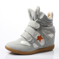 isabel marant sneakers Elevator sneaker color block five-pointed star 2013 women's shoes high-top shoes