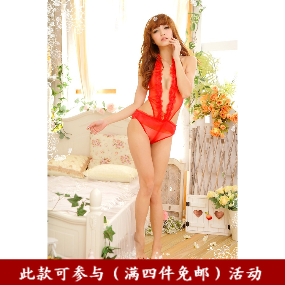 Derlook lingerie red one piece bikini s011 underwear(China (Mainland))