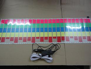 90*25cm Sound Music Activated EL Sheet Car Sticker Equalizer Glow led Multi Color Decorative Light car Accessories 150sets/lots(China (Mainland))