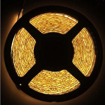 5M Warm White 600 Leds Waterproof 3528 SMD LED Strips Lights 16.4FT 120Led/m