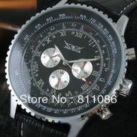 Hot Free shipping 1PC Jaragar auto watch male watch small needle large dial WJ-1003-1