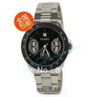 2013 Hot free shipping 1PC Flent flying wave automatic male calendar steel strip mens watch F-8062
