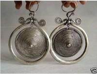 Fancy Jewellery Tibet Miao Silver Earrings