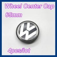 4 pcs/lot 65mm Wheel Center Caps for VW Volkswagen Cars,Car Emblems Free Shipping