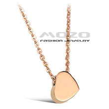 Free Shipping 2013 New HOT SALE Fashion Love chain Women's 18K gold plated 316L Stainless Steel Necklace for women/girls TY775