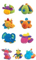 Free shipping-baby plush toy Tolo Chuckles Educational Soft Toys W/BB instrument (10 kinds of animals)