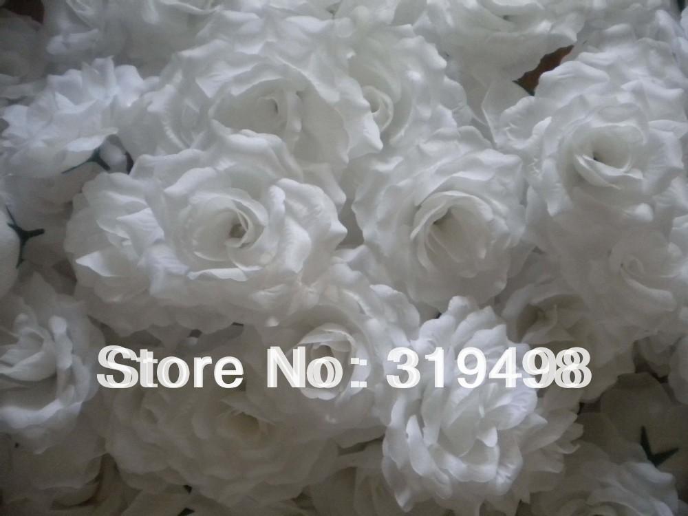 100 pcs white Artificial Simulation Silk Blossom rose Peony Flower Head Wedding diam 10cm(China (Mainland))