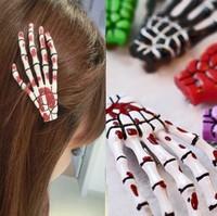 2pcs Free Shipping Fashion skeleton claws skull hand hair clip hairpin Zombie Punk Horror hairwear hairpin bobby pin
