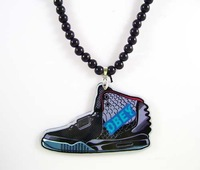 Hip Hop Jewelry Style OBEY Sneakers Pendant Acrylic Necklace,PROM Accessories,Holiday Gifts YKL-016