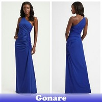 EG099 Blue Elegant Simple Vintage Long Party Dresses Women Ladies Gowns 2013 Free Shipping