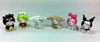 cute hello kitty  Cartoon Figure Toys cosplay anime  figures 6pcs/set  action figure  free shipping
