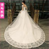 2013 princess long trailing wedding dress bandage embroidered wedding dress The church wedding dress, long tail high-end wedding