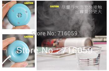 home appliance USB mini doughnut ultrasonic humidifier with LED reminderlight air ultrasonic humidifier free shipping