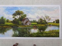 Hand draw good quality oil paintings, landscape paintings