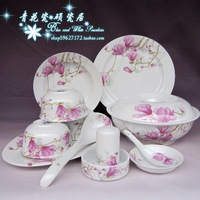 Blue and white porcelain dinnerware set jingdezhen ceramic dishes soup cooker 56 set
