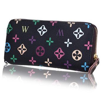 Vintage women's wallet female long zipper design three fold wallet drawstring buckle women's wallet