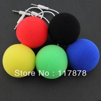 Promotion small ball audio dock lovely mini portable speaker for phone/tablet pc ear phone jack