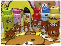 Free Shipping 350ml Kawaii Rilakkuma Portable Leakage-Proof Children Kettle/Water Bottle,Cartoon Sports Kettle Wholesale