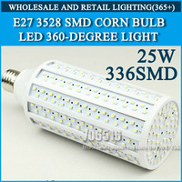 Wholesale 20PCS LED Corn Bulb LED lights 3528SMD 336pcs 220V 230V 240V 25W 360 degrees Free shipping