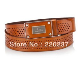 free shipping genuine top leather high quality Eurosko 2013 male leather betl with pin buckle(China (Mainland))