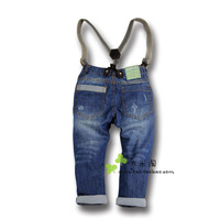 Free shipping retail 2013 Spring Hot best quality boys denim overalls / fashion boy Salopette /best-selling child denim trousers