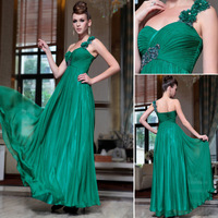 Free Shipping DorisQueen 30817 one shoulder green color new dresses evening 2013