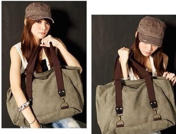 Women all-match hippie street style fashion lady lazy pillow bags Vintage Canvas women bag School Shoulder Messenger Bag GLX1