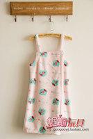 New arrival circus cartoon plush green pink spaghetti strap short skirt sleepwear bath skirt bathrobes