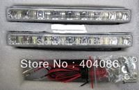 2013 Freeshipping DRL Daytime Lights x 8 LED /Universal LED Car light Day Running Light 12DC Led Fog Light