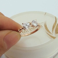 Wholesale Hot 14k diamond bow rose gold titanium steel ring Korean version of the ring jewelry