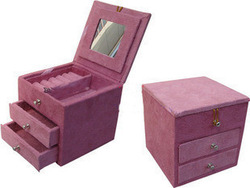Double drawer flannelet jewelry box jewelry box jewelry box cosmetic box birthday wedding gift(China (Mainland))
