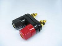Gold plated trumpet terminal block ternminal horn banana head socket speaker
