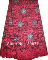New CL8123-5 Hot sale with  free shipping  cheaper price Big blue color cotton embroidery Lace fabric