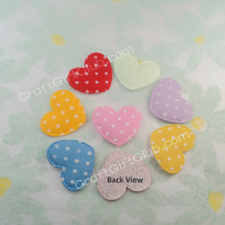 400 Mix Color Heart Dot Valentine Party Applique Craft 23mm x 20mm(China (Mainland))