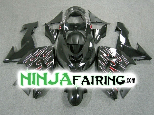 Cheap Sportbike KAWASAKI NINJA 06-07 ZX10R Motorcycle Fairings Replacement bodywork Free windscreen(China (Mainland))